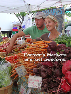 Use local famers markets for your fundraiser event menu