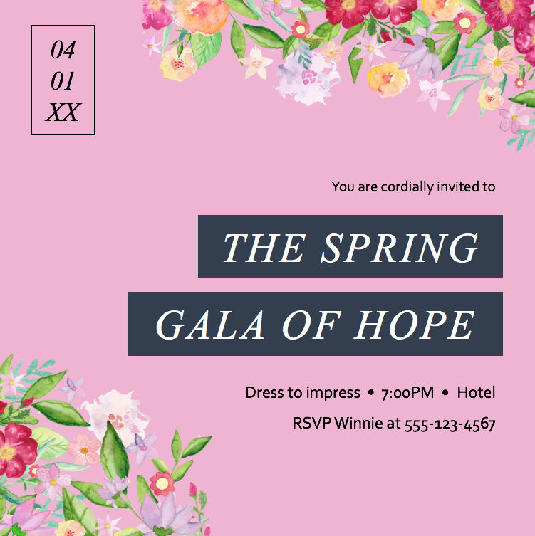 Spring Gala_save the date