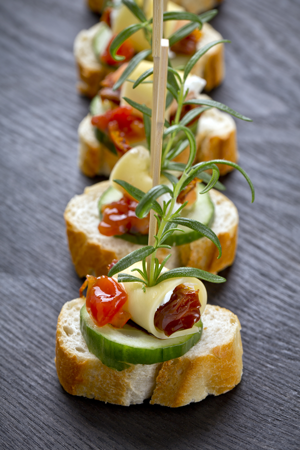 Menu planning for your charity event - use finger foods