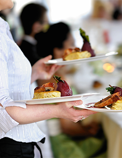 Using a caterer for your fundraising event menu