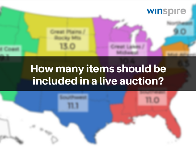 how many items should be included in a live auction